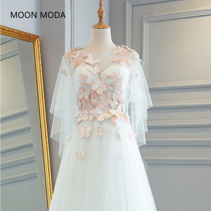 Lace Vintage Real Photo Wedding Dress Half Sleeve Bridal