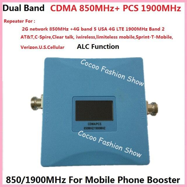 Dual Band GSM 4 Г Booster 850 мГц 1900 мГц CDMA PCS Ретранслятор GSM Мобильный Телефон Усилитель Сигнала повторитель 4 Г LTE FDD сигнала усилитель