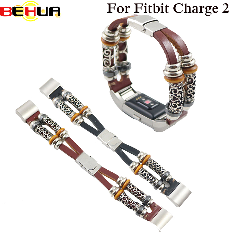 High Quality Leather Watch Strap For Fitbit Charge 2 Band Smart Bracelet Replacement Watchband Bracelet For Fitbit Charge2 Woven