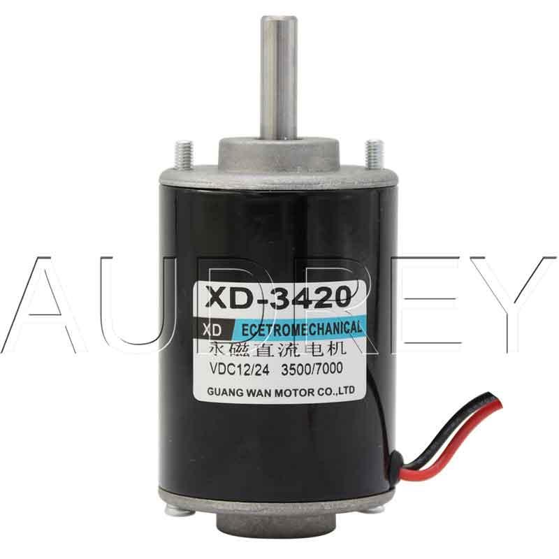 0.5A 12V 24V brushed DC permanent magnet high speed motor 30W steel tube motor Speed regulating motor Positive reversing motor