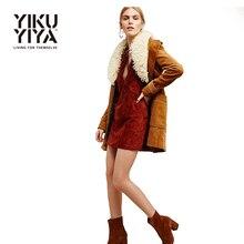 YIKUYIYA Apparel 2017 Women Coat Casual Solid Camel Vintage Bohemian Jacket Lady Pockets Elegant Streetwear Female Outwear