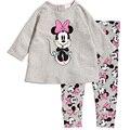 Girls Clothing Set Sweet Cartoon Minnie Mickey Children Long Sleeve Shirt+Pants Suit Causal Boys Kids Cotton Home Suit