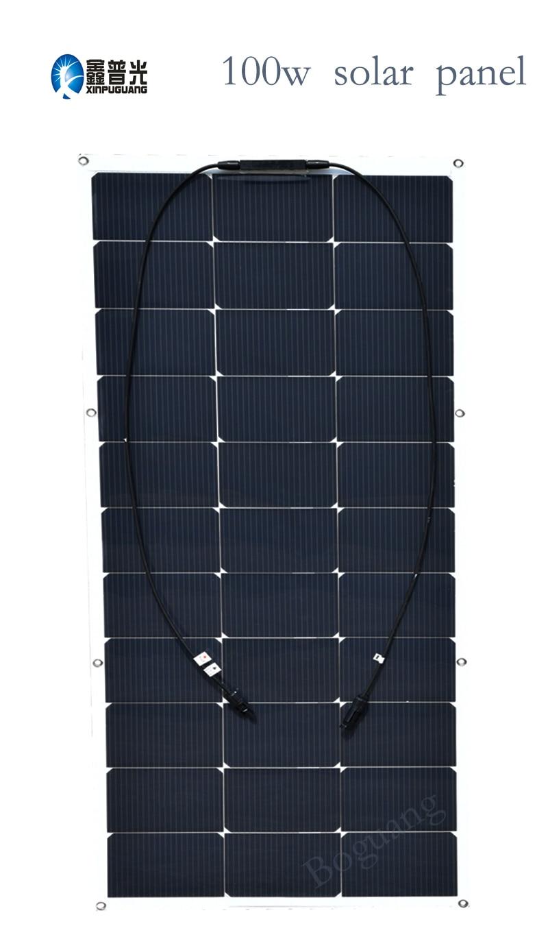 100w 16v New Authentic Solar Panel Flexible Module Cell for 12v System DIY Kit RV Car Home Powered LED Light Yacht Marine