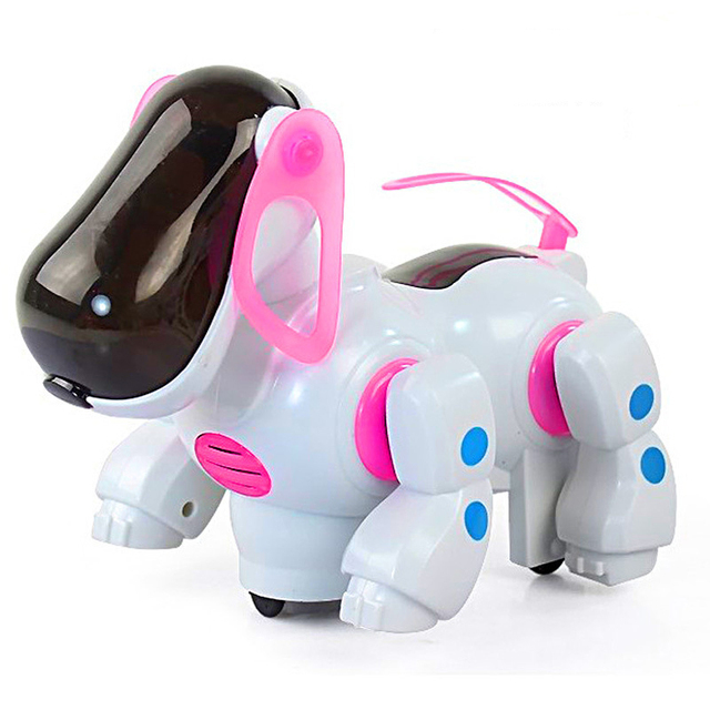 Smart electric robot car dog toys doll  Automatic steering car Pet dog models Boy Kids toys Electric toy light Musical Baby toys