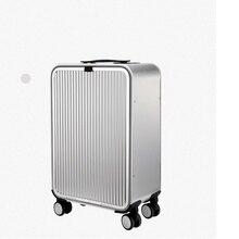 حقيبة سفر مصنوعة من الألومنيوم مقاس 20 بوصة و24 بوصة مزودة بقفل قابل للطي 100% بوصة حقيبة سفر بعجلات