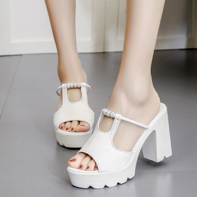 Sandales Hauts D'été Belle Perles Marée Pop Flop forme Chaussures Causel Escarpins Plate K15 Européenne 1 Talons Nouvelle Flip Femmes 2 wzAqv