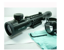 caza Super 3-9X32 Tri Rail Red Green Rangefinder Rifle Scope Militery Use (MR33) hunting scopes