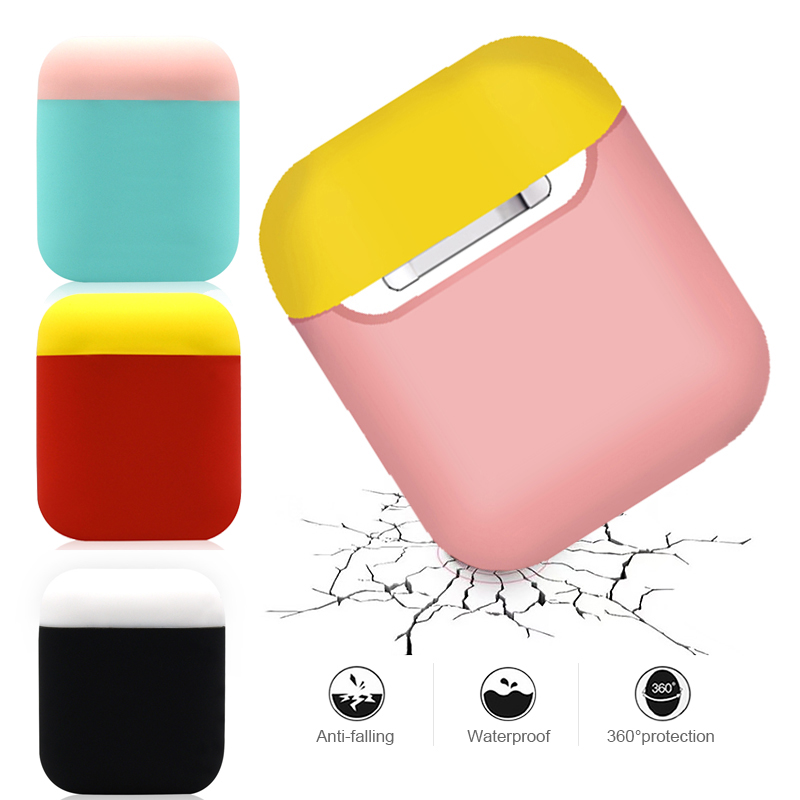 Soft Silicone Earphone Case For Apple Airpods Shockproof Cover Boxes For Airpods Cases Bags For Air Pods Headphone Accessories