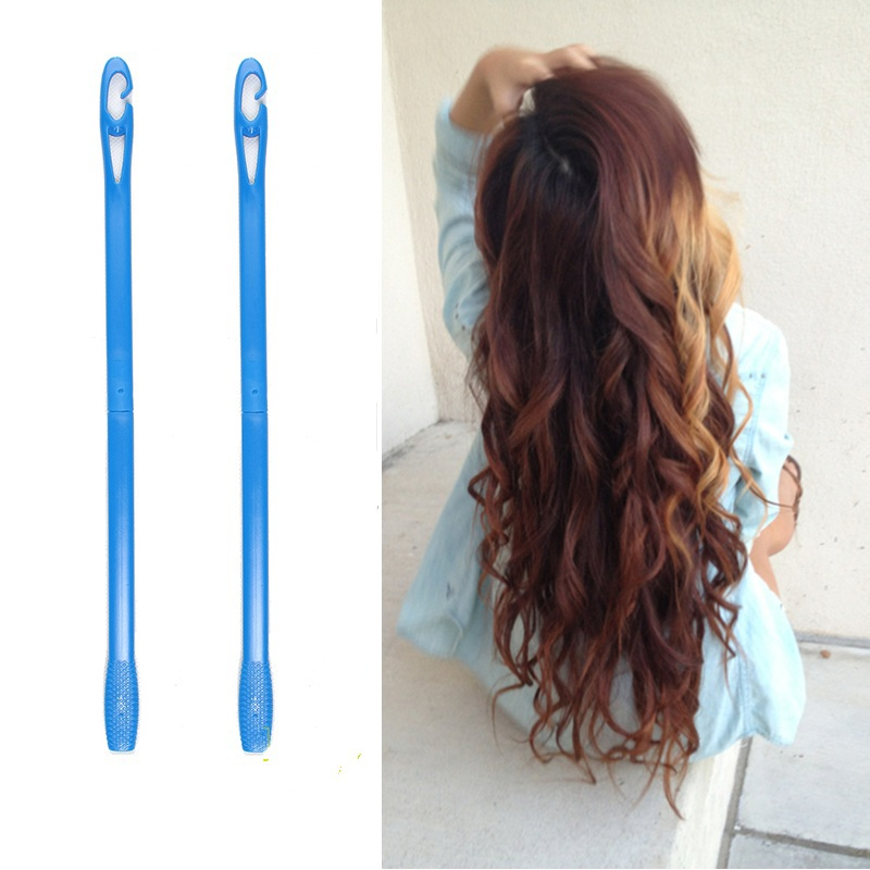 18pcs/set 45cm Plastic Long Diameter 2.5cm Magic Hair Curler Magic Hair Roller Spiral Curls Easy Usage