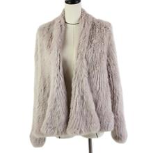 2019 Hot sale knitted rabbit fur jacket popuplar fashion winter coat for women*harppihop