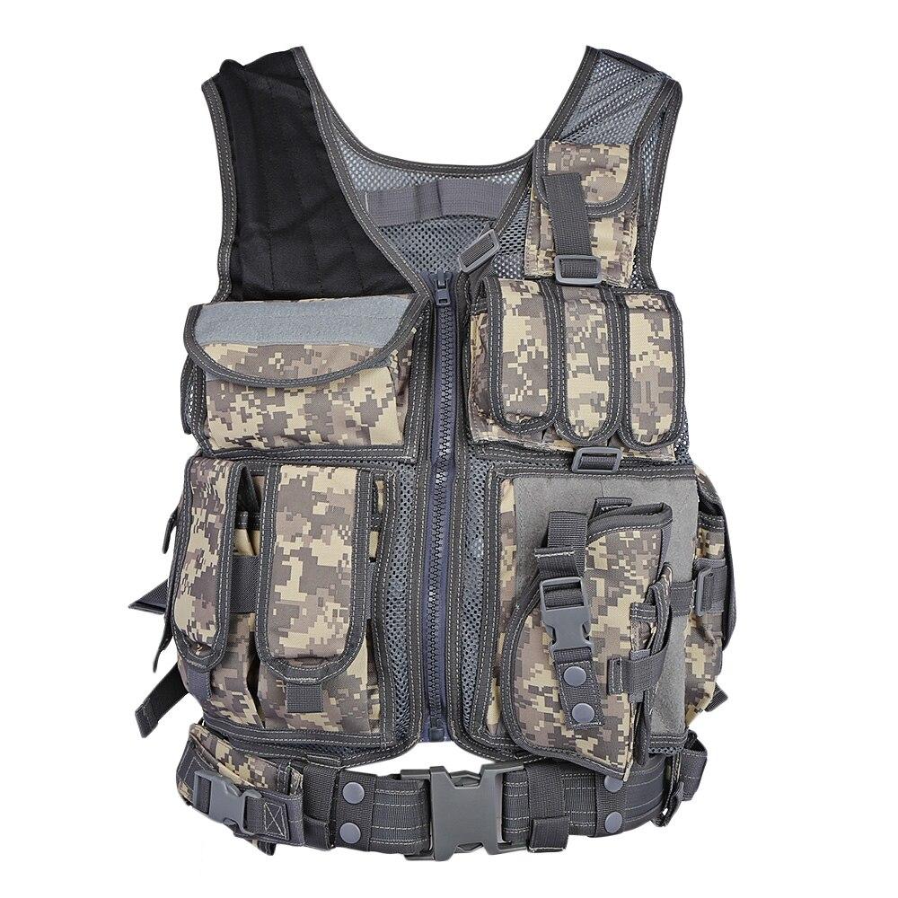 Outdoor Tactical Vest Men Military Tactical Vest Hunting Camouflage Vest Body Armor Molle Equipment Jungle Shoulder Straps Vests