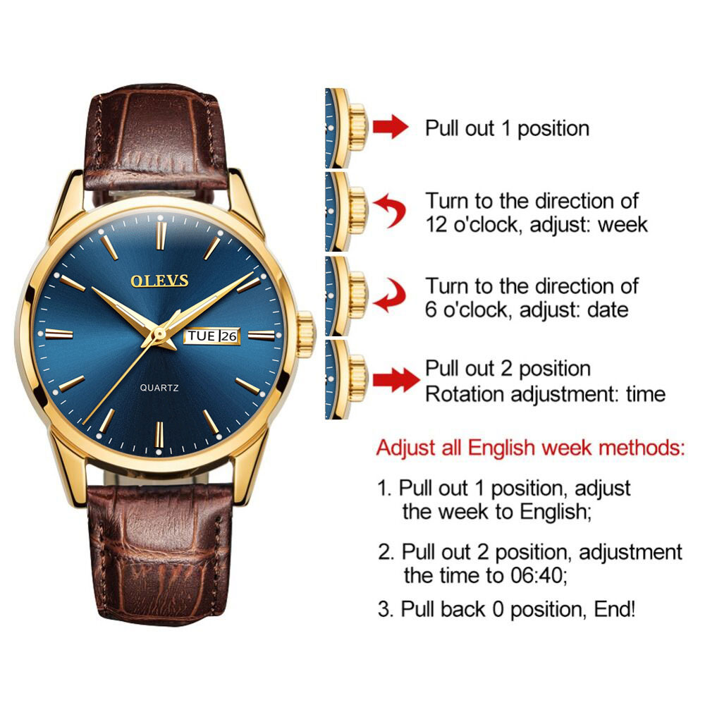 Mens Watches Top Brand Luxury OLEVS Fashion Watch Men Leather Quartz Watch For Male Auto Date Mens Watches Top Brand Luxury OLEVS Fashion Watch Men Leather Quartz Watch For Male Auto Date Rose Gold Shell relogio masculino