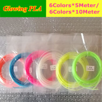 High Quality 3D Pen Filament 6 Colors Glow In The Dark 5meter Or 10 Meter Color
