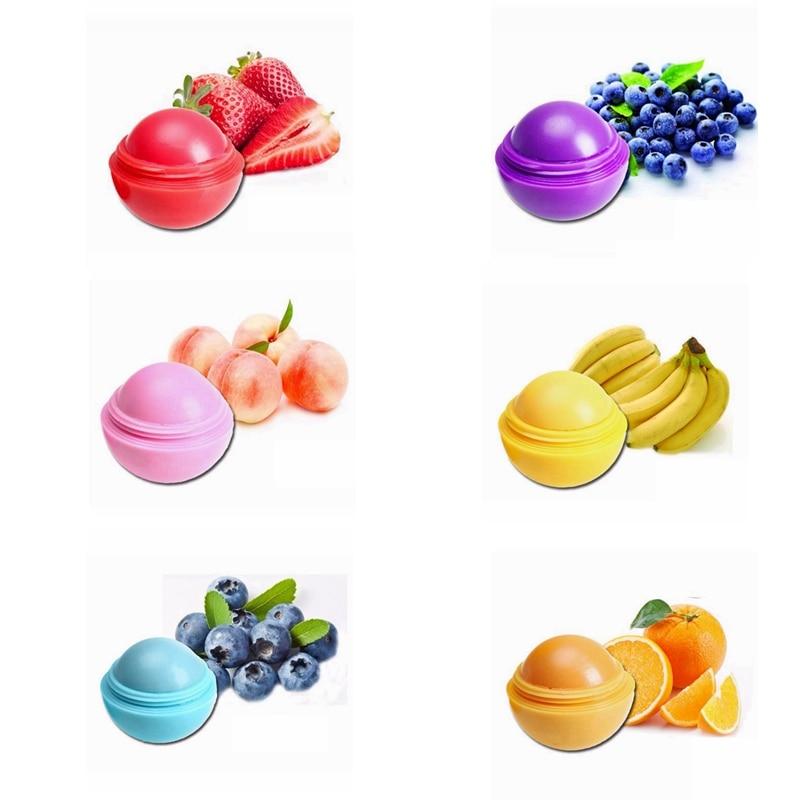 6PCS Ball Lippen Balsam Lippenstift Lip Schutz Süßer Geschmack Verschönern Lippen Ball Make-Up Lippenstift Glanz Kosmetische Zubehör Gloss Make-Up