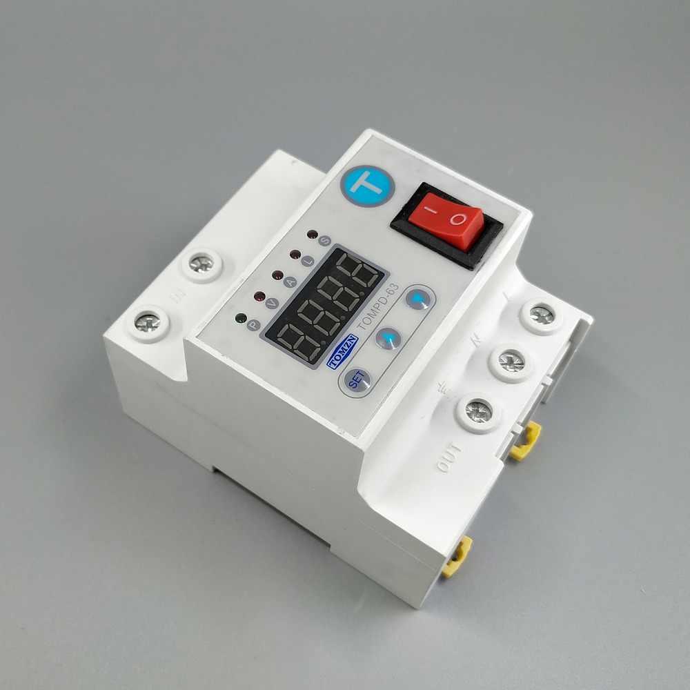 63A disjoncteur de reconnexion automatique avec relais de protection contre les surtensions et les surtensions