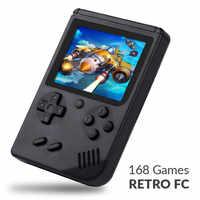 168 Giochi MINI Portatile Retro Video Console di Gioco Palmare Anticipo I Giocatori del Ragazzo 8 Bit Built-In Gameboy 3.0 Pollici LCD A Colori schermo