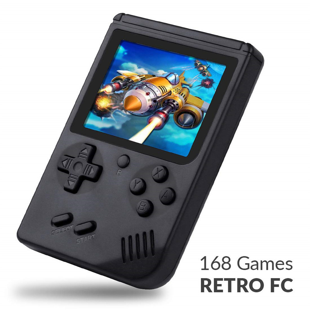 168 Jogos MINI Portátil Retro Video Console Handheld Do Jogo Jogadores Menino 8 Pouco Embutido Gameboy Antecedência 3.0 Polegada Cor LCD tela