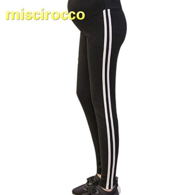 49e59f9029c9d Pregnant Women Leggings Big Size Elasticity Spring and Autumn Maternity  Sports Pants Women Sport Pants Black