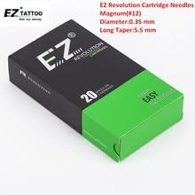 EZ New Revolution Needle Cartridge #12 ( 0.35 mm) Regular Long Taper Magnum Tattoo Needle for Cartridge Tattoo Machine 20PCS/Box