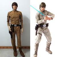 Star Wars Luke Skywalker Cosplay Costume with belt and waist bag custom made Free Shipping