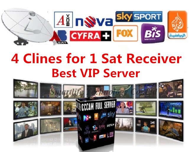 Cccam Cline VIP Servers for sat Decoder/Receiver 1 year