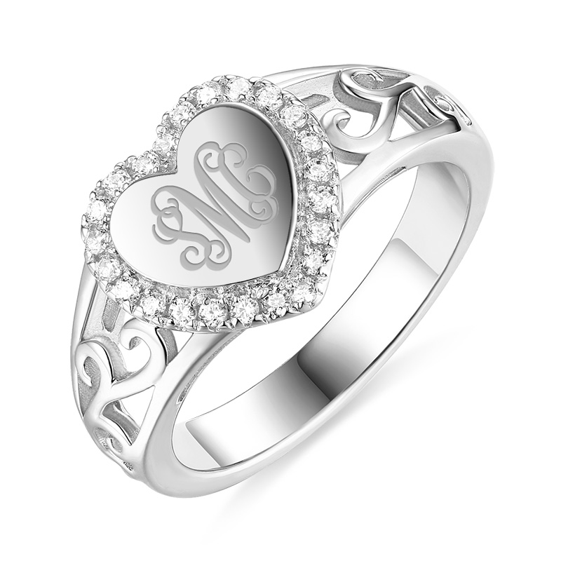 Wholesale Personalized Jewelry MO White Gold Color Love ...