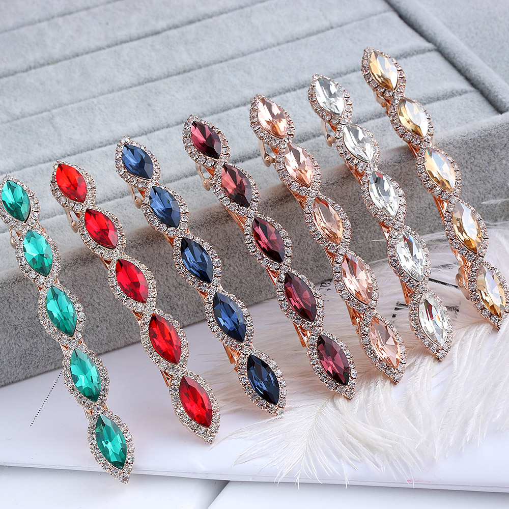 2 Styles Colorful Hot Fashion Woman Hairpins Hair Barrettes Clamp Clip Crystal Hairpin Barrettes Hair Accessories
