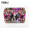 2016 Women Cosmetic Bags Pug Dog Printing Large Makeup Bag Women Make Up Bag Wash Organizer Travel Toiletries Floral Female Bag