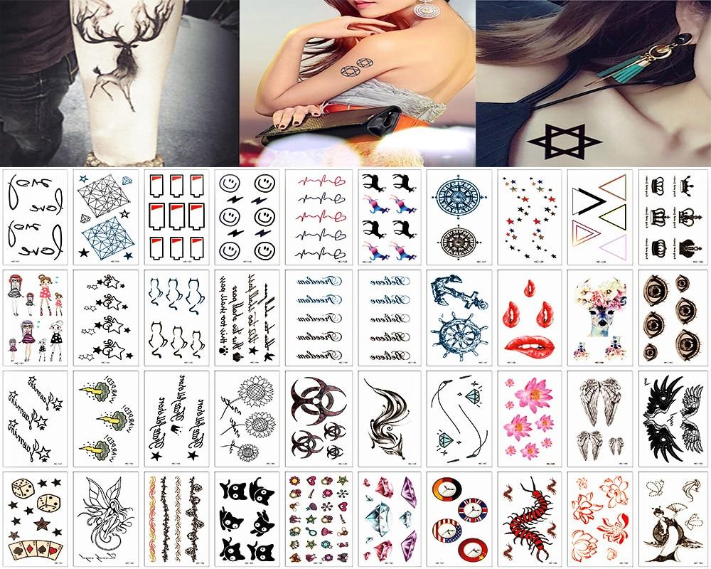 Y Xlwn 40 шт водонепроницаемая временная татуировка