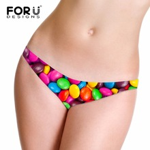FORUDESIGNS Pink Women Panties Sexy G-Strings Women's Seamless Briefs 3D Candy Female  Lingerie Underwear Girl Thongs Underpants