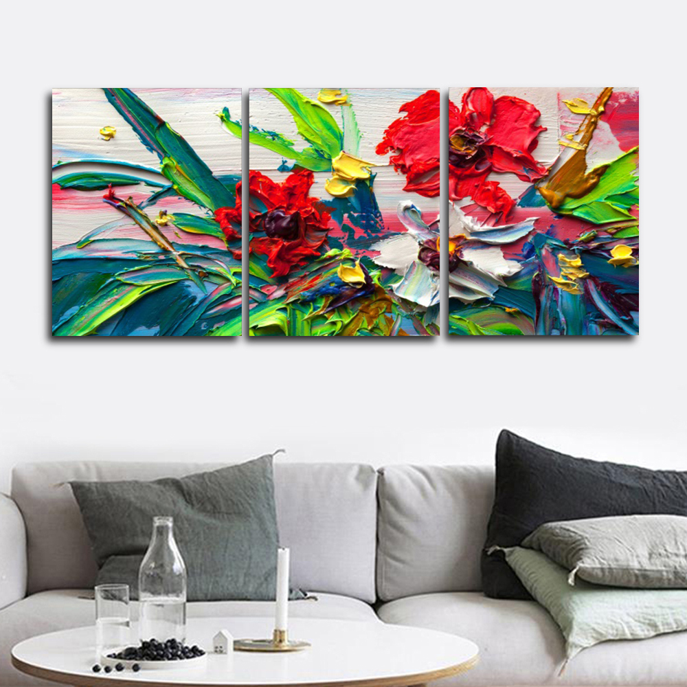 Laeacco Canvas Calligraphy Painting Watercolor Floral Posters Prints Floral Wall Artwork Classic Nordic Living Room Home Decor in Painting Calligraphy from Home Garden