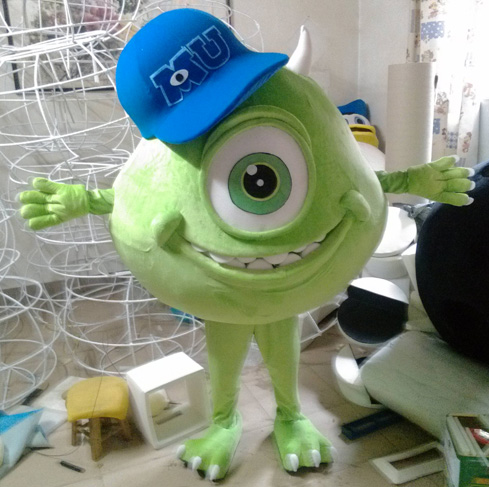 High quality adult monsters university mascot costume mike monsters university sully mike mascot mascot costume free shipping