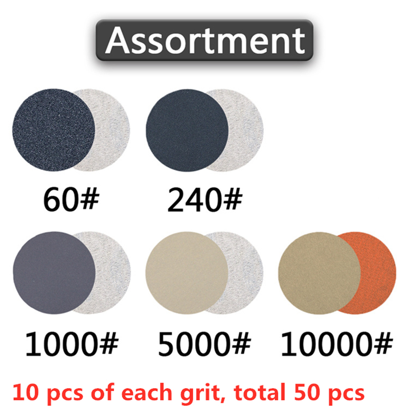 Image 5 - POLIWELL 50PCS 1 Inch Grit 1000 /3000/ 5000 Sanding Discs Waterproof Flocking Abrasive Sandpaper for Small Area Fine Polishing-in Abrasive Tools from Tools