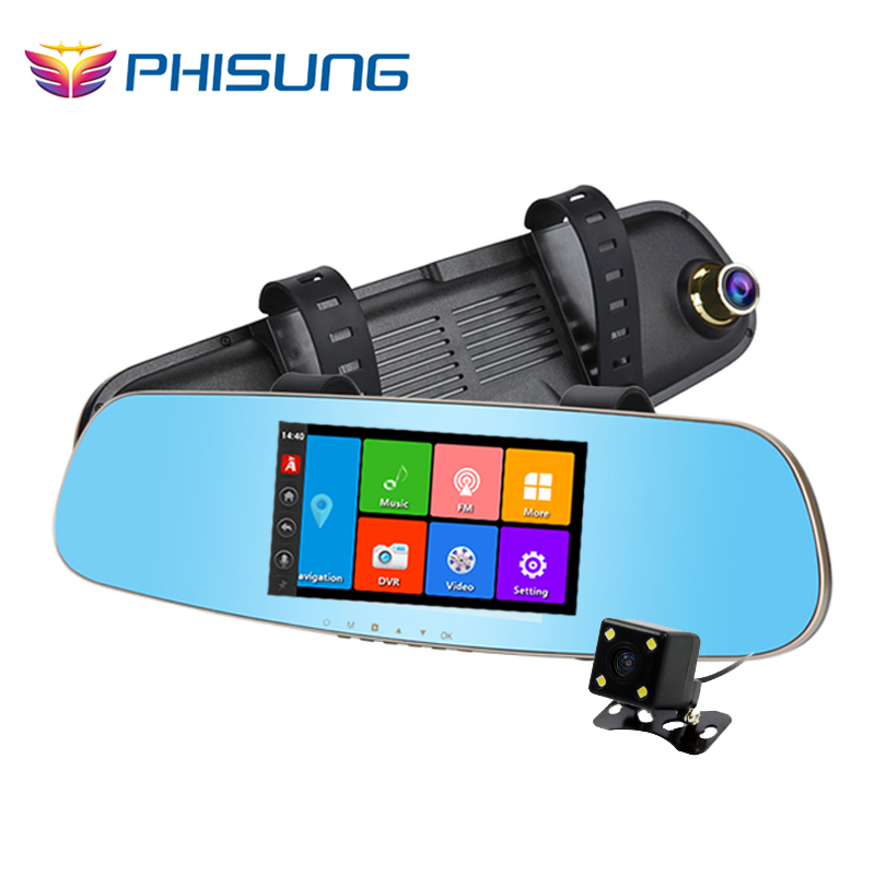Phisung font b GPS b font Navi car dvr android 5 0 IPS Touch ROM 16GB