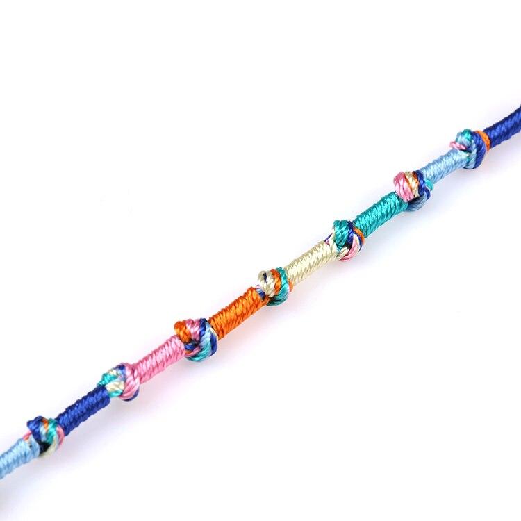Fashion brazilian bracelet multicolor braided boho chain bohemian tassel strain handmade sport chain friendship bracelets unisex 5