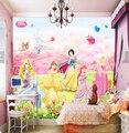 Custom animation wallpaper, Disney Princess for the children's room living room bedroom backdrop waterproof papel de parede