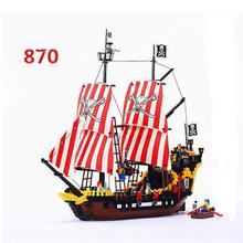 Black Pearl Pirates Ship Compatible Legoings 6285 Enlighten 308 Building Blocks Bricks Educational Toys Festival Gifts