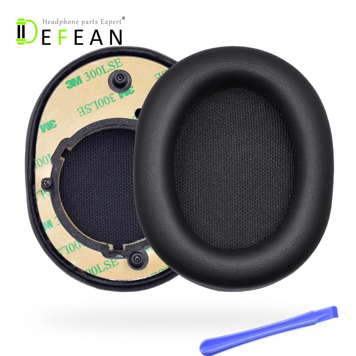 Defean Replacement Black Ear Pads Cushion covers For AKG N90Q N 90 Noise Cancelling Headphone