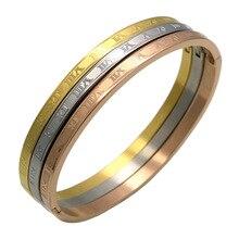 Trendy Bangle Women Rose Gold Bracelet Luxury Brand Designer Bracelets for  Stainless Steel Female Jewellery
