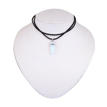 Natural Stone Opal Pendant For Women Bullet Shape Necklace Stone Crystal Choker
