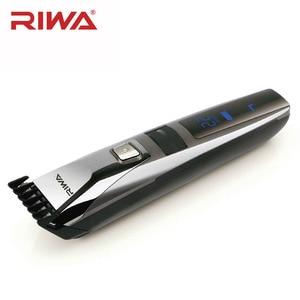 Image 2 - Riwa K3 profesyonel saç kesme makinesi bir dahili tarak şarj edilebilir su geçirmez erkek saç düzeltici makinesi akülü lcd ekran