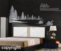 Aesthetic Romantic Swan Lake Bible Wall Stickers The Wedding High Quality