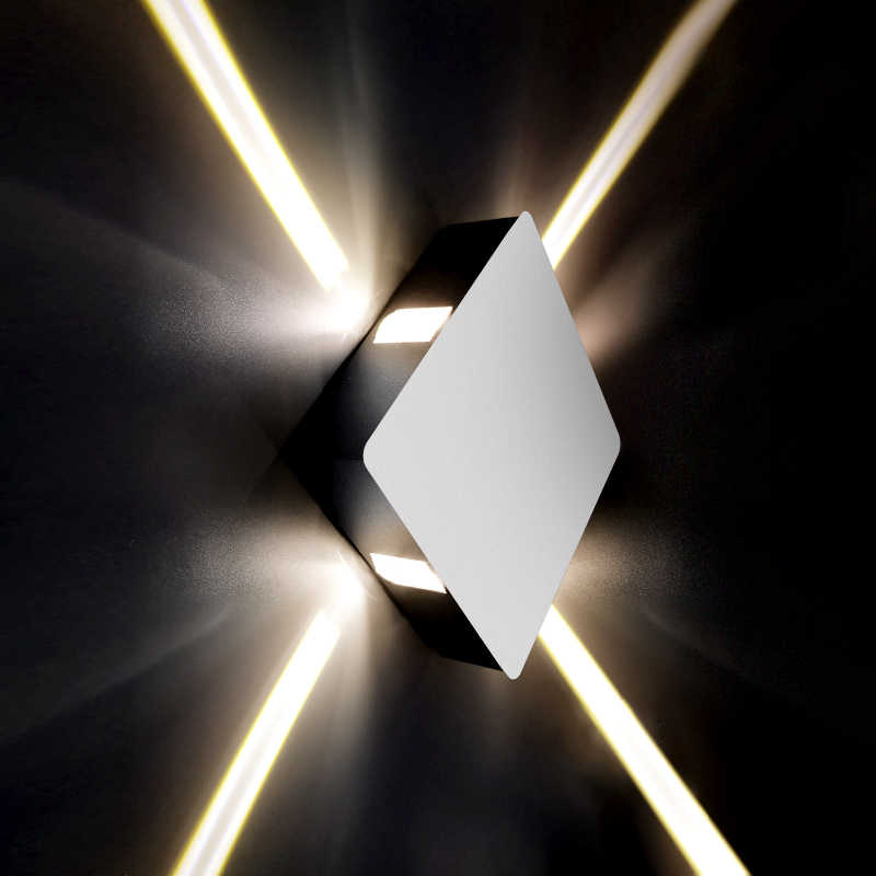 Feimefeiyou Современная креативная прохода круглое квадратное настенное бра прикроватная тумбочка для спальни Коридорная лестница Отель Проект Светодиодный светильник для дома