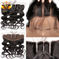 Cheap Brazilian Lace Frontal Closure 13x4 Body Wave Ear To Ear Lace Frontal With Baby Hair Virgin Human Hair Full Lace Frontals