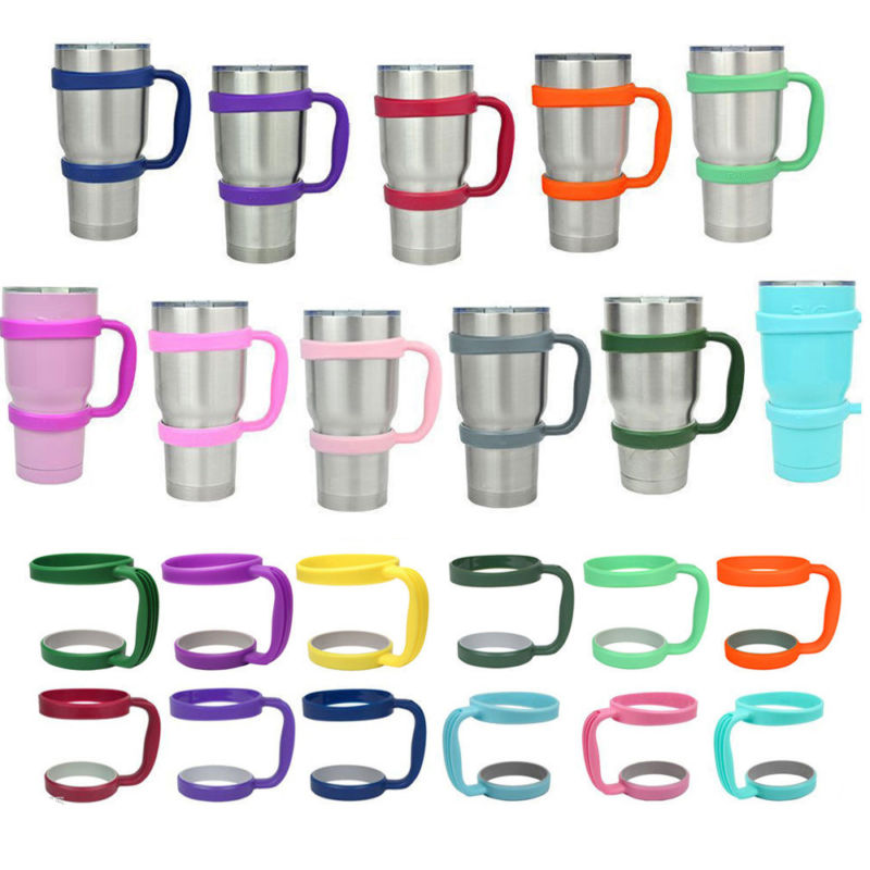 Portable Black Water Bottle Mugs <font><b>Cup</b></font> <font><b>Handle</b></font> <font><b>for</b></font> YETI <font><b>30</b></font> Oz Tumbler Rambler <font><b>Cup</b></font> Hand Holder Fit Travel Drinkware Drop Multicolor