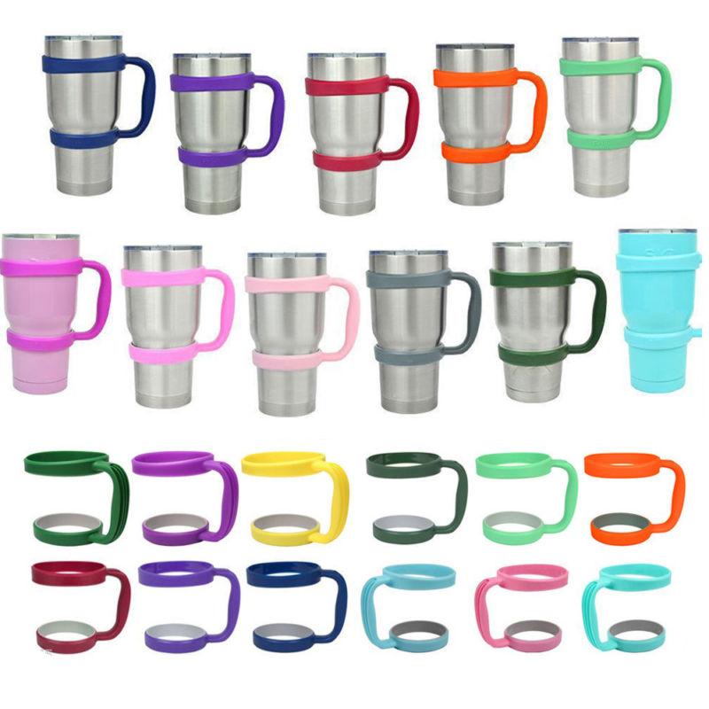 Portable Black Water Bottle Mugs <font><b>Cup</b></font> <font><b>Handle</b></font> <font><b>for</b></font> <font><b>YETI</b></font> 30 Oz <font><b>Tumbler</b></font> <font><b>Rambler</b></font> <font><b>Cup</b></font> Hand Holder Fit Travel Drinkware Drop Multicolor