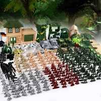 300 pièces costume militaire soldat Corps militaire soldat Playset armée hommes Combat modèle figurines jeu de jouets assemblage modèle jouets