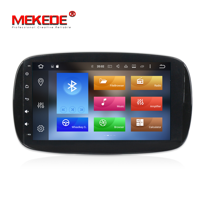 MEKEDE Picture in picture function Octa core Android 8.0 Car tape recorder GPS DVD Player For Mercedes Benz SMART 2015 2016 image