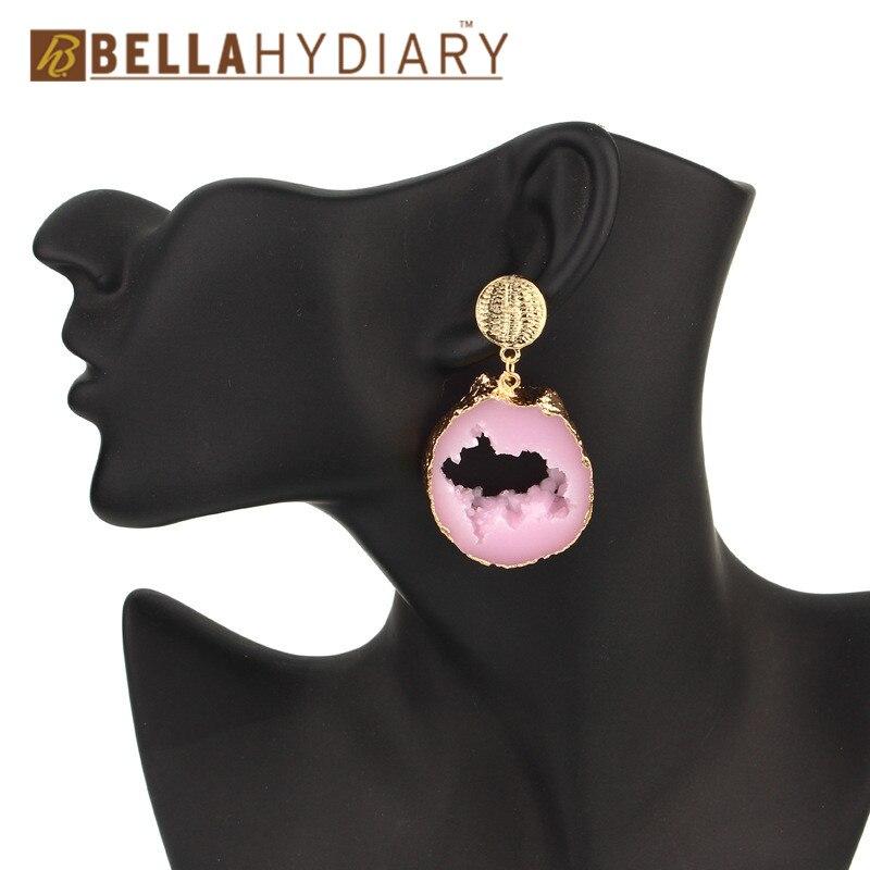 Druzy earrings resin earrings jewelry Ohrringe bijoux earings earring earing pendientes brinco big earrings vintage jewelry wedding earrings geometric earrings long earrings gifts for women (7)