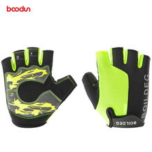 Boodun New Half Finger Cycling Gloves Women Men Shockproof Breathable Road Bike Gloves MTB Bicycle Gloves Luva Ciclismo Female цена